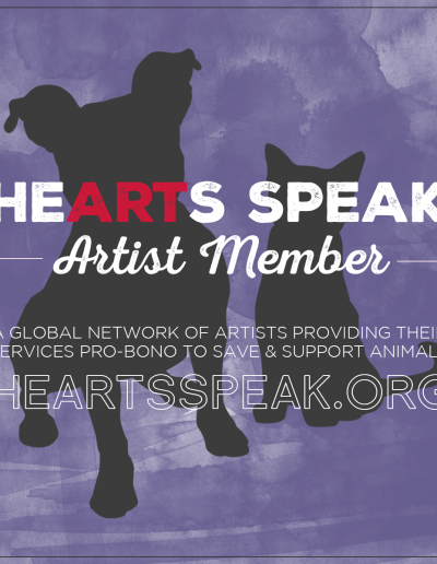 artists member badge hearts speak