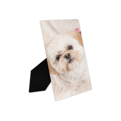 a 5x7 desktop display of your pet portrait
