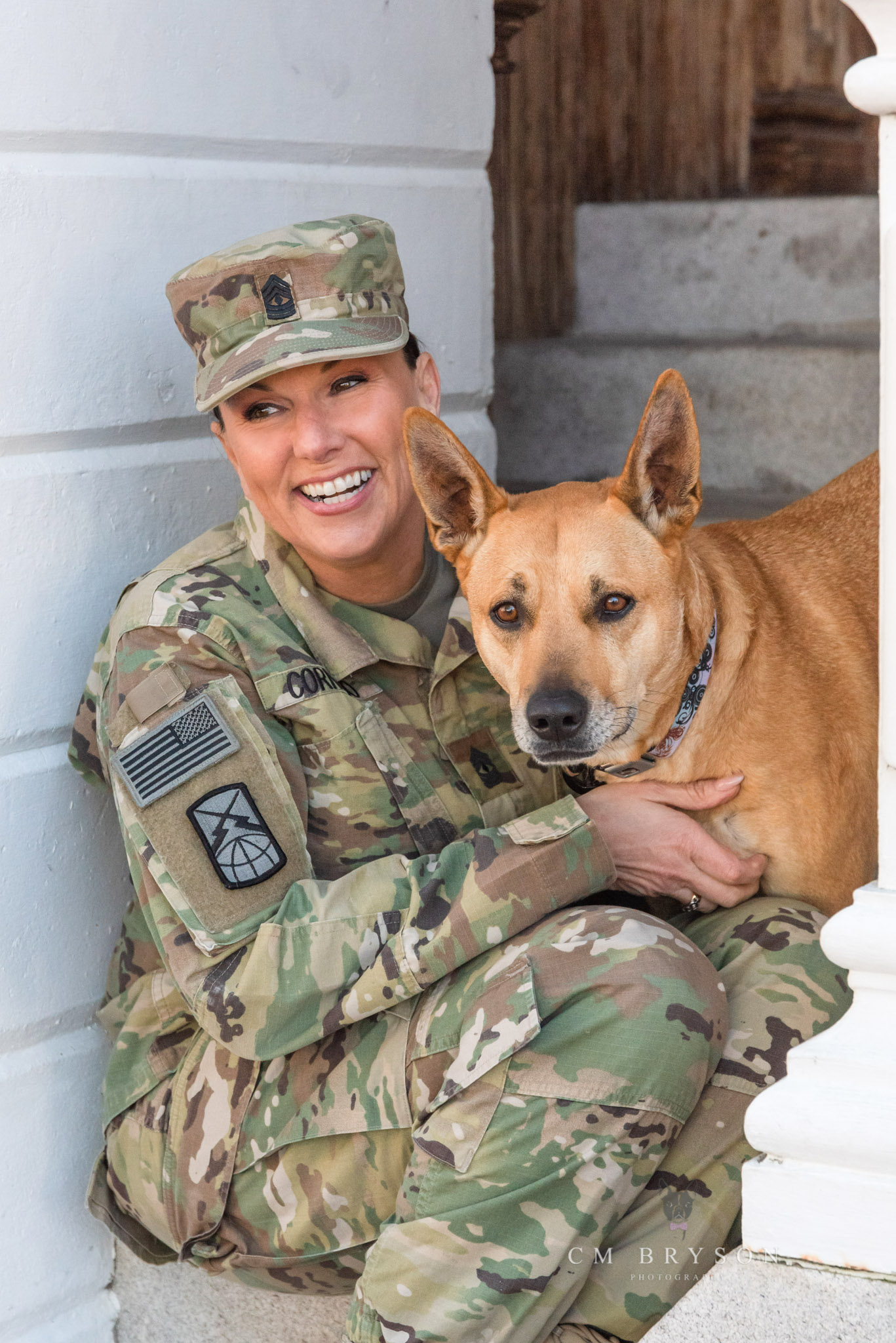 Military veteran celebrates the human animal bond with her rescued dog