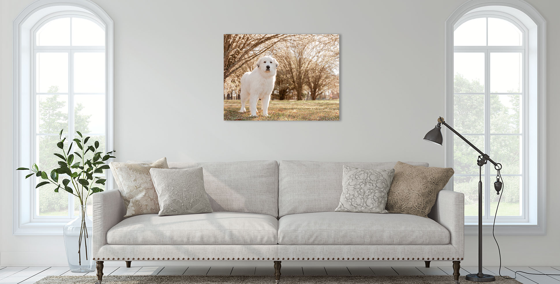 Photographic canvas is perfect for contemporary and timeless home decor. Make it personal with custom artwork featuring photographs of your dog taken by Atlanta dog photographer CM Bryson