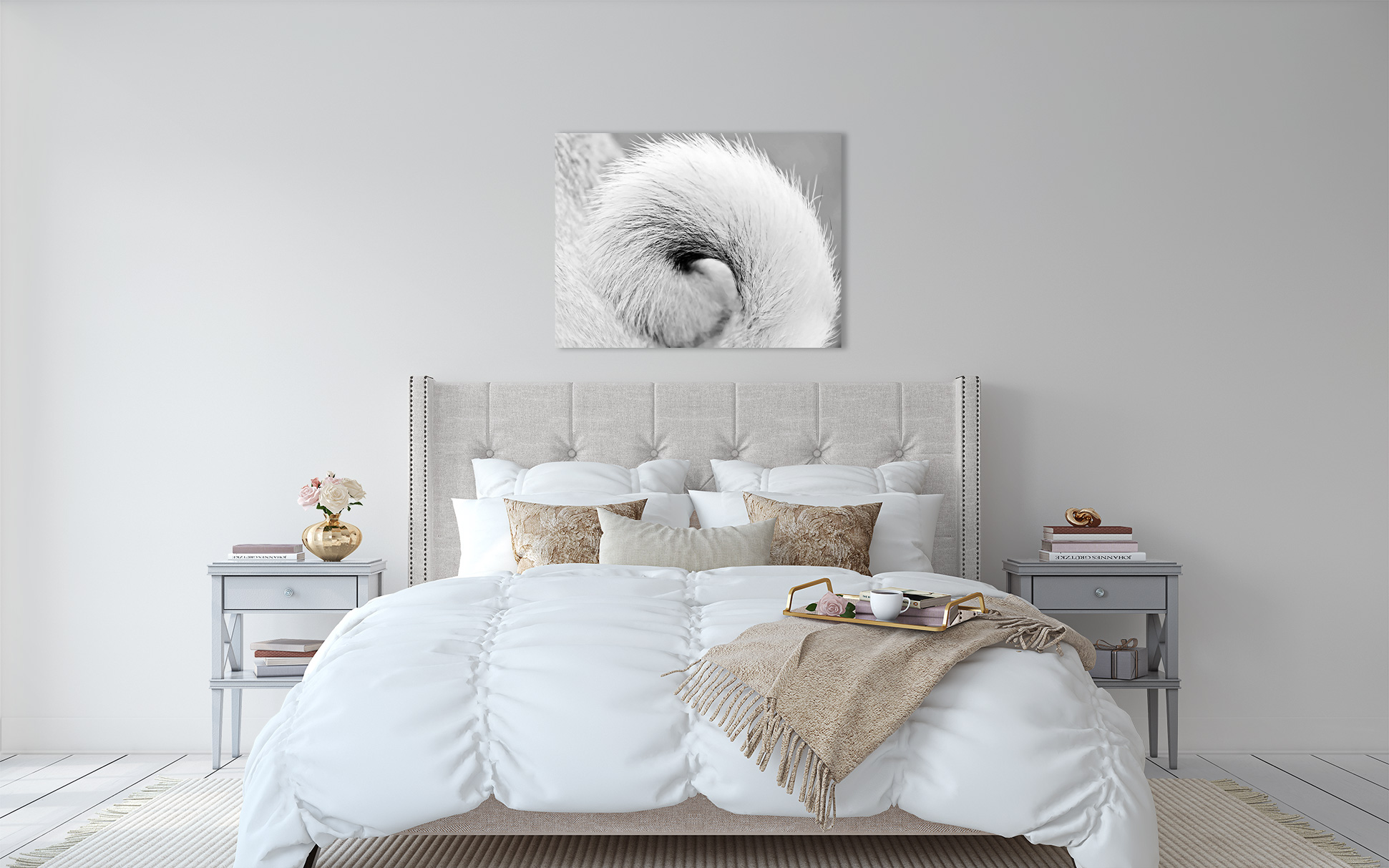 Super sizing details can raise your dog photography to modern art on your walls.