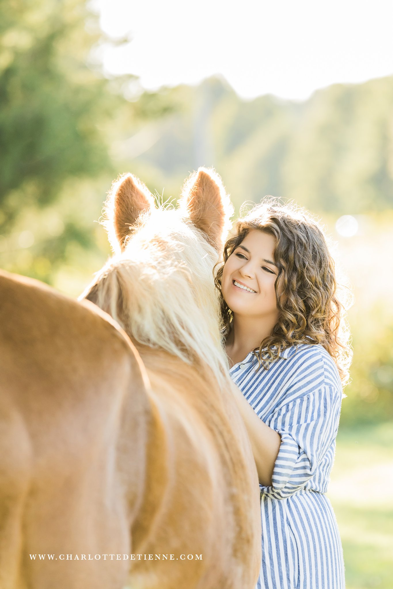 Courtney Bryson of CM Bryson gets on the other side of the lens for her own equine photography session with her senior horse.