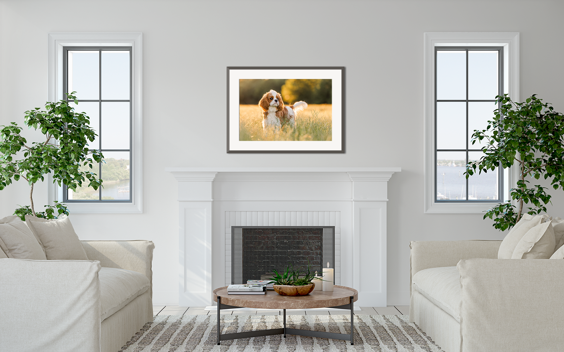 Get advice on How to Hang Wall Art - Portraits, Photographs, & Paintings - Like a Pro from professional pet photographer CM Bryson